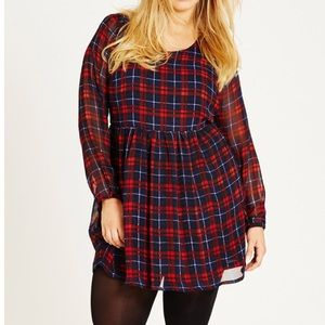 NWT City Chic Check Me Out Plus Size Dress